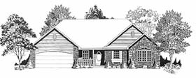 Traditional House Plan 62595 Elevation