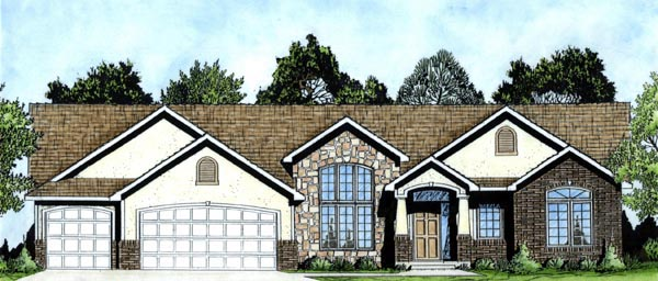 European House Plan 62601 Elevation