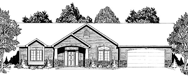 Traditional House Plan 62602 with 5 Beds, 3 Baths, 2 Car Garage Elevation