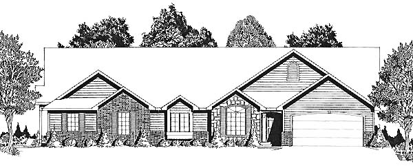Traditional Multi-Family Plan 62604 Elevation