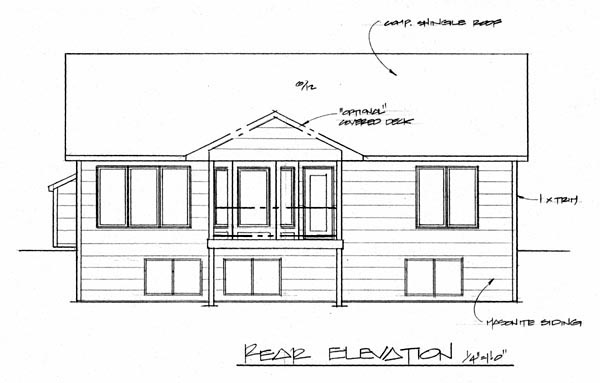 Traditional House Plan 62605 Rear Elevation
