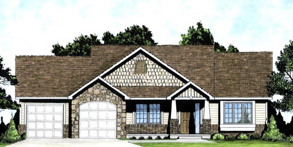 Traditional House Plan 62607 Elevation