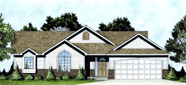 Traditional House Plan 62608 Elevation
