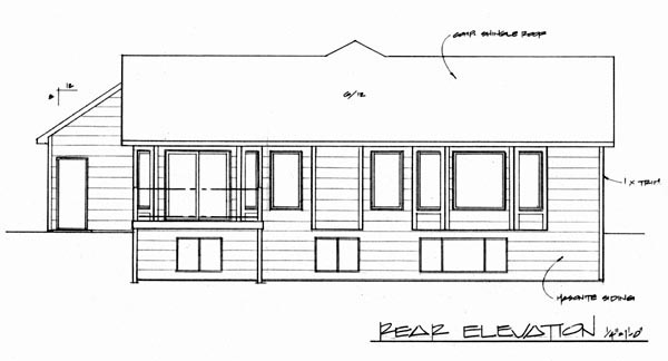 Traditional House Plan 62608 Rear Elevation