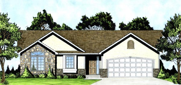 Traditional House Plan 62610 Elevation