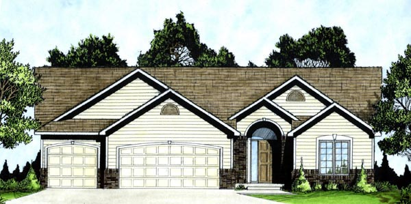 Traditional House Plan 62611 Elevation