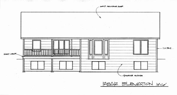Traditional House Plan 62611 Rear Elevation