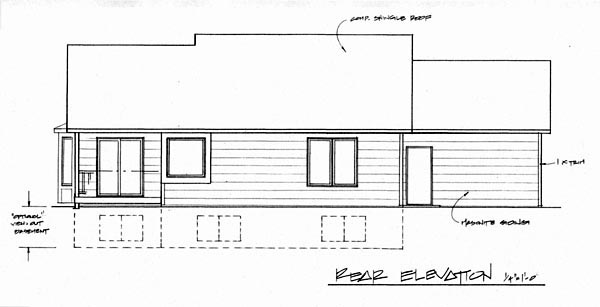 Traditional House Plan 62612 Rear Elevation