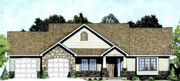 Traditional House Plan 62613 Elevation