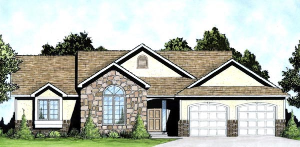Traditional House Plan 62614 Elevation