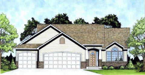 Ranch Traditional House Plan 62619 Elevation