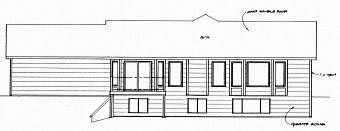 Ranch Traditional House Plan 62620 Rear Elevation