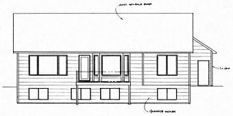 Ranch Traditional House Plan 62621 Rear Elevation