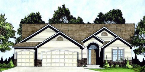 Ranch , Traditional , Elevation of Plan 62623