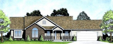 Ranch Traditional House Plan 62624 Elevation