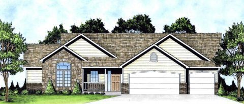 Ranch Traditional House Plan 62625 Elevation