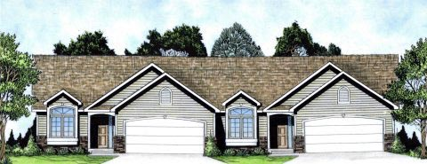 Ranch Traditional Multi-Family Plan 62626 Elevation