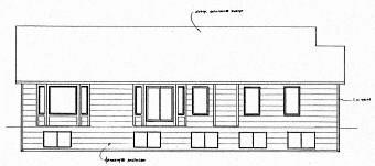 Ranch Traditional House Plan 62627 Rear Elevation