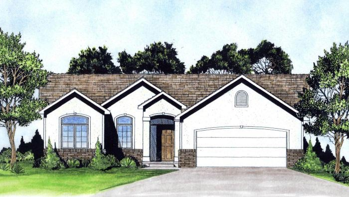 Southwest House Plan 62632 Elevation