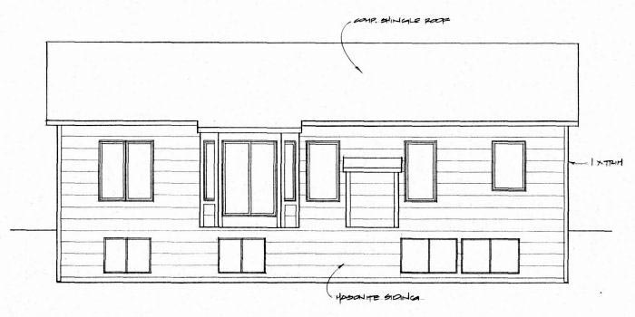 Southwest House Plan 62632 Rear Elevation