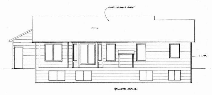 Traditional Rear Elevation of Plan 62634