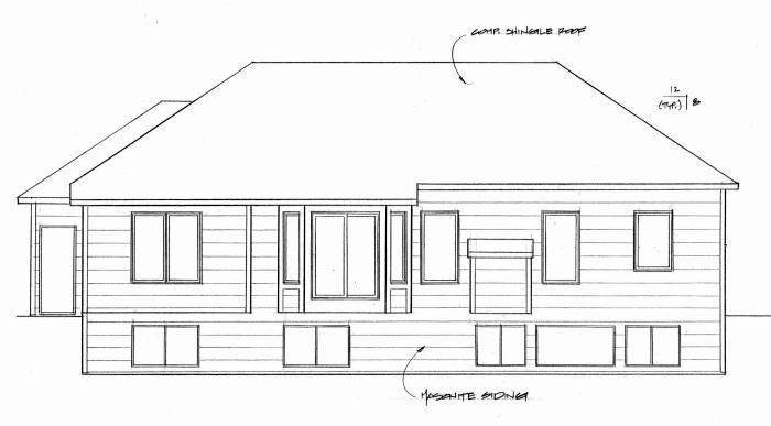 Traditional House Plan 62635 Rear Elevation