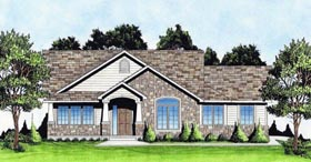 Traditional House Plan 62637 with 3 Beds, 2 Baths, 2 Car Garage Elevation