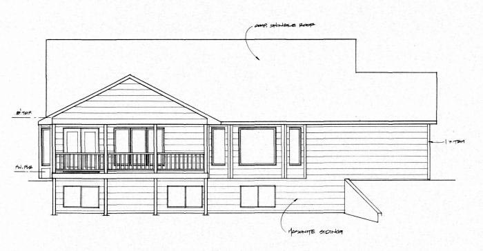 Traditional House Plan 62639 Rear Elevation