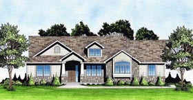 Traditional House Plan 62641 with 2 Beds, 2 Baths, 2 Car Garage Elevation