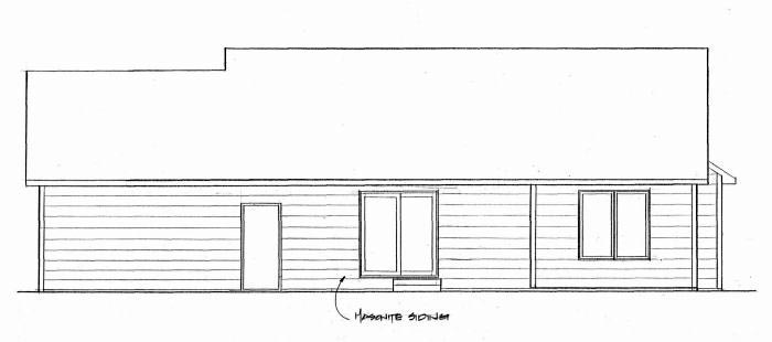 Traditional House Plan 62641 with 2 Beds, 2 Baths, 2 Car Garage Rear Elevation