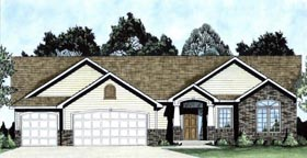 Traditional House Plan 62643 Elevation