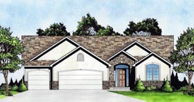 Traditional House Plan 62644 Elevation