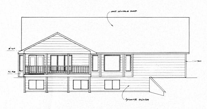 Traditional House Plan 62645 Rear Elevation