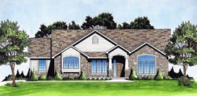 Traditional House Plan 62647 with 3 Beds, 2 Baths, 2 Car Garage Elevation