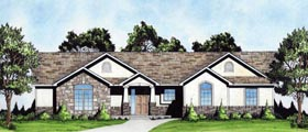 Traditional House Plan 62648 with 3 Beds, 2 Baths, 2 Car Garage Elevation