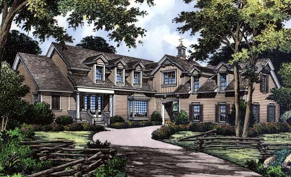 Traditional House Plan 63006 with 4 Beds, 4 Baths, 2 Car Garage Elevation