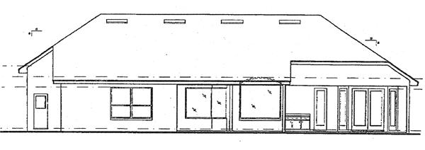 Mediterranean House Plan 63018 with 4 Beds, 4 Baths, 3 Car Garage Rear Elevation