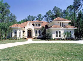 House Plan 63021 | Florida Mediterranean Style Plan with 3424 Sq Ft, 5 Bedrooms, 4 Bathrooms, 3 Car Garage Elevation