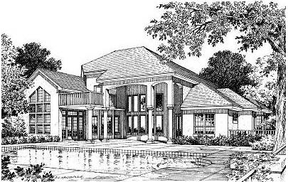 Mediterranean, Victorian House Plan 63024 with 3 Beds, 4 Baths, 3 Car Garage Picture 1