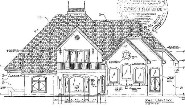 House Plan 63041 | Victorian Style Plan with 3923 Sq Ft, 3 Bedrooms, 4 Bathrooms, 3 Car Garage Rear Elevation