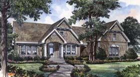 Traditional , Bungalow House Plan 63049 with 3 Beds, 3 Baths, 2 Car Garage Elevation