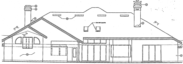 Mediterranean House Plan 63068 with 4 Beds, 4 Baths, 3 Car Garage Rear Elevation