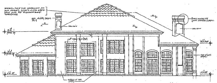 House Plan 63069 | Florida Mediterranean Style Plan with 3730 Sq Ft, 4 Bedrooms, 4 Bathrooms, 2 Car Garage Rear Elevation
