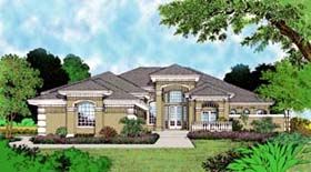 Florida , Mediterranean House Plan 63072 with 4 Beds, 4 Baths Elevation
