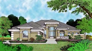 Florida Mediterranean House Plan 63072 Elevation