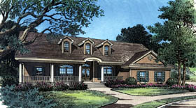 Country , Traditional House Plan 63085 with 3 Beds, 2 Baths, 2 Car Garage Elevation