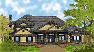 Colonial , Traditional House Plan 63103 with 4 Beds, 5 Baths, 3 Car Garage Elevation