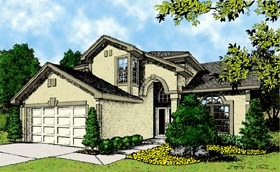 Mediterranean House Plan 63123 with 4 Beds, 3 Baths, 2 Car Garage Elevation