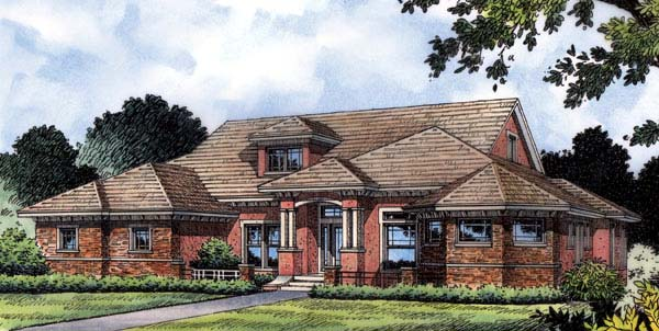 House Plan 63147 | Southern Victorian Style Plan with 3970 Sq Ft, 3 Bedrooms, 4 Bathrooms, 3 Car Garage Elevation