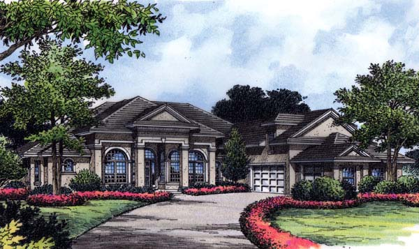 House Plan 63151 | Florida Mediterranean Style Plan with 3589 Sq Ft, 4 Bedrooms, 4 Bathrooms, 3 Car Garage Elevation
